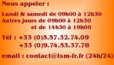 Contact et heures d'ouverture TSM