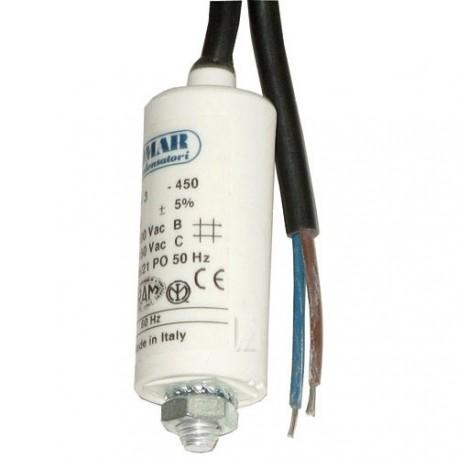 Condensateur de démarrage filaire