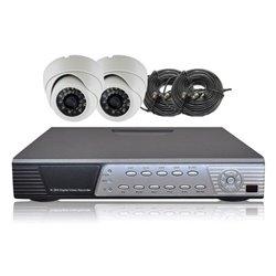 Kit vidéoprotection filaire 2 caméras 700 lignes + DVR 500 Go