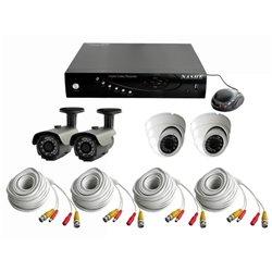 Kit vidéoprotection filaire 4 caméras 700 lignes + DVR 500 Go