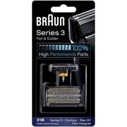 Couteau avec grille pour rasoir Braun Free control